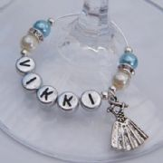 Dancing Dress Personalised Wine Glass Charm - Elegance Style